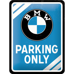 Metalowy mały szyld blacha tin signs BMW - Parking Only