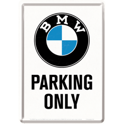 Metalowy mini szyld 14x10 cm BMW PARKING ONLY