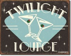 Metalowy plakat reklamowy blacha tin sign USA Martini Twilight Lounge Prezent #1175