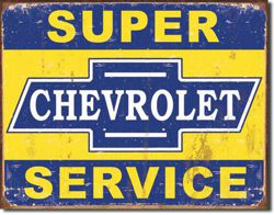 Metalowy plakat reklamowy blacha tin sign USA Super Servis Chevroleta Prezent #1355
