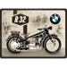 Metalowy plakat szyld blacha tin signs 30x40 cm BMW R32