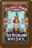 Metalowy plakat szyld blacha tin signs Old Highland Whiskey Prezent