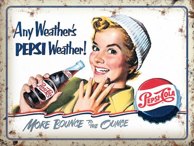 Zawsze Jest Pogoda Na Pepsi Metalowy Plakat 40x30 Cm Blacha