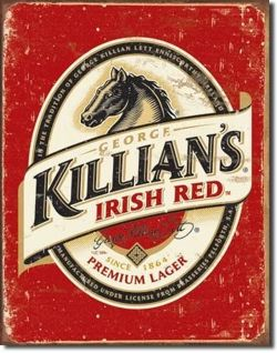 Metalowy szyld plakat reklamowy blacha tin sign USA Piwo Killian's Irish Lager
