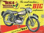 BSA Bantam Metalowy plakat blacha tin sign 40x30 cm