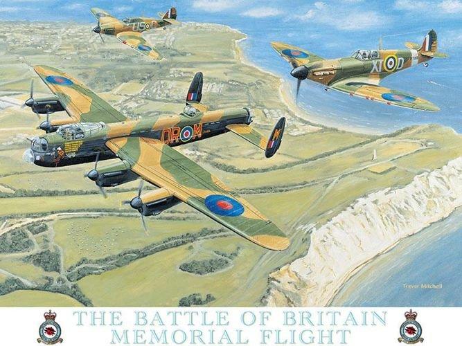 Metalowy Plakat Reklamowy Blacha Tin Sign Samoloty Z Czasów Bitwy O Anglię Prezent