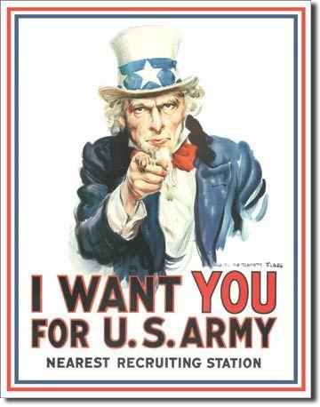 Metalowy Szyld Plakat Reklamowy Blacha Tin Sign Usa Potrzebuję Cię Dla Amerykańskiej Armii Prezent