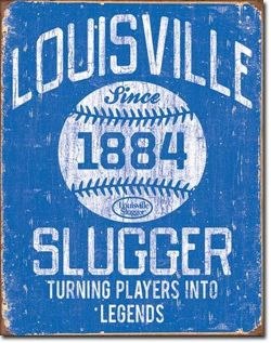 Drużyna Baseballowa Louisville Slugger Metalowy plakat  blacha tin sign USA