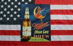 Metalowy plakat reklamowy blacha tin sign USA Miller High Life Brew Prezent #978
