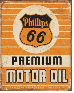 Metalowy plakat reklamowy blacha tin sign USA Phillips 66 Premium Motor Oil