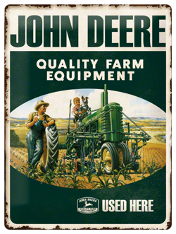 Metalowy szyld blacha tin signs John Deere Quality Farm Equipment Prezent
